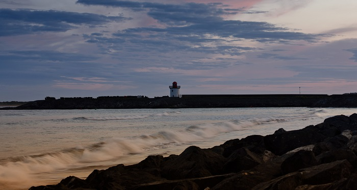 Burry Port lighthouse and harbour