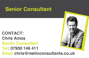Chris Amos, Melin Consultants